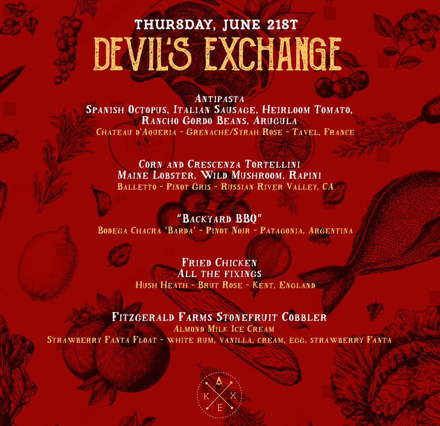 Devil's Exchange Dinner - Buy Tickets Here!